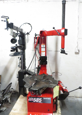 Hunter TCX535E Table Top Tire Changer, w/ Bead Press, Power out Bead Loosener
