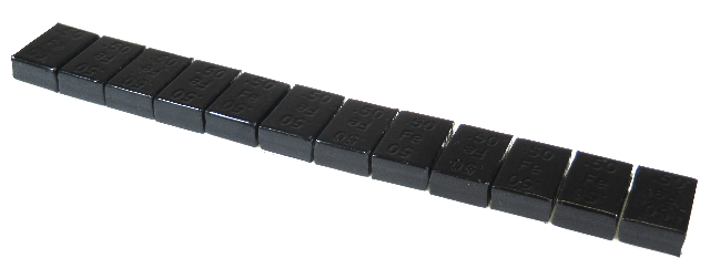 300336FEBLK PERFECT STEEL BLACK Adhesive Wheel weights, 1/2 oz, 336 pieces