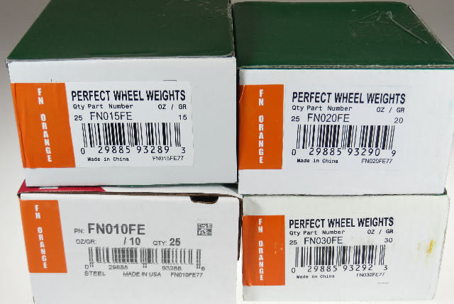 100 Pcs FN Style Wheel Weight Assortment 10-30 gram for Japanese Alloy Wheels
