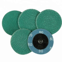 "(25) PACK, 2"" ROLL ON ROLOC DISCS, GREEN ZIRCON, 50 GRIT, USA MADE"
