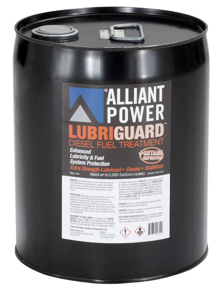 Alliant Power LUBRIGUARD Diesel Fuel Treatment with Cetane Improver | 5 Gallon Pail - Treats 5000 gal. Diesel Fuel | Alliant Power # AP0512