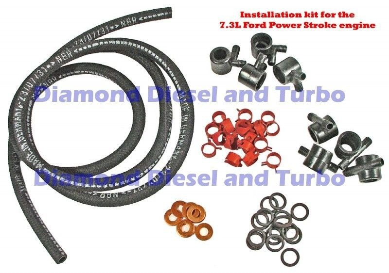 6.9L / 7.3L Diesel Fuel Injection Line kit Includes 8 ...