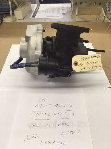 Turbo for 2002 + Perkins with a Vista 6 Tier 2 Engine.   OE Turbo # 2674A402 - Garrett # 709942-0009