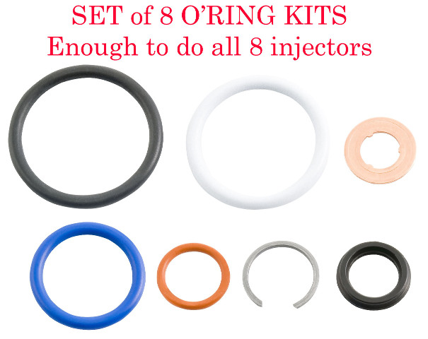 2003-2010 6.0L/4.5L Ford Power Stroke   G2.8 Injector Seal Kit 8 Pack   Alliant Power # AP0002