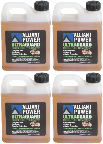 Alliant Power ULTRAGUARD Diesel Fuel Treatment | 4 Pack of 32 oz Jugs | # AP0502