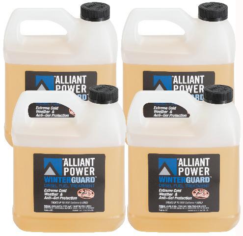 Alliant Power WINTERGUARD Diesel Fuel Treatment | 4 Pack of 1/2 Gallon Jugs | # AP0507