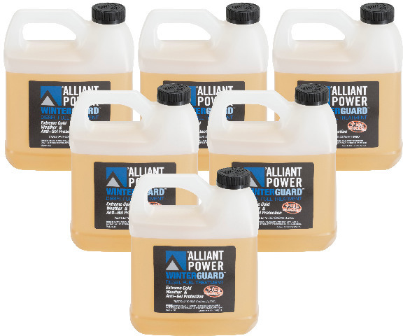 Alliant Power WINTERGUARD Diesel Fuel Treatment | 6 Pack of 1/2 Gallon Jugs | # AP0507