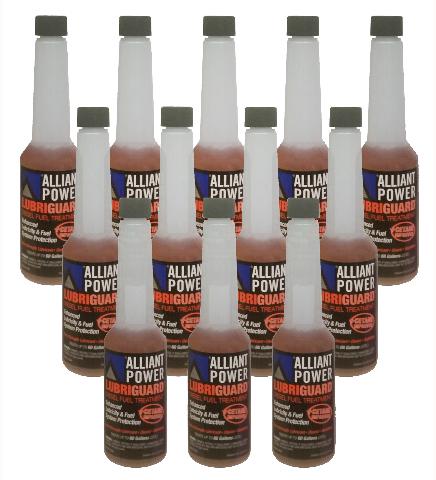 Alliant Power LUBRIGUARD Diesel Fuel Treatment | 1/2 Pint (8 oz) Pack of 12 Bottles | Alliant Power # AP0528
