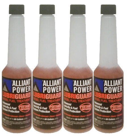 Alliant Power LUBRIGUARD Diesel Fuel Treatment | 1/2 Pint (8 oz) Pack of 4 Bottles | Alliant Power # AP0528