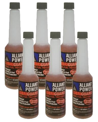 Alliant Power LUBRIGUARD Diesel Fuel Treatment | 1/2 Pint (8 oz) Pack of 6 Bottles | Alliant Power # AP0528