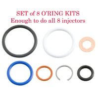 2002.5-2007 Navistar VT365/275, MaxxForce5, G2.8 Injector Seal Kit (Set of 8) Alliant Power # AP0002
