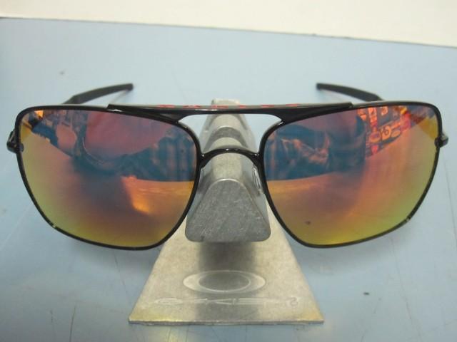 2f377dd08368b6 OAKLEY mens DEVIATION sunglass Black Ruby Iridium OO4061-04 Demo in baggy