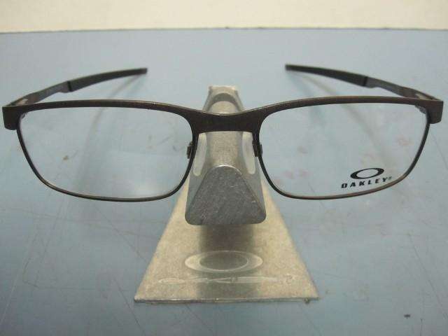 8be3f95579 OAKLEY mens Steel Plate RX eyeglass frame Powder Pewter OX3222-0452 ...