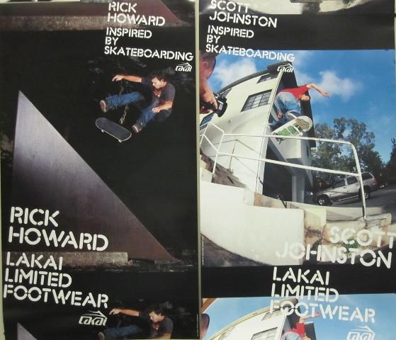 94c1320daf64 Sd rick howard scott johnston lakai skateboard sided promotional poster  flawless jpg 559x480 Lakai skateboarding