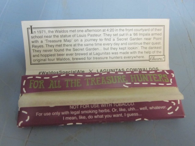 Lagunitas Brewery Beer The Waldo S Special Ale Promo Rolling Papers Rare 420 Ebay
