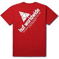 HUF mens Peak Logo Short Sleeve Tee Red Medium New w/Tag Skateboard Snowboard