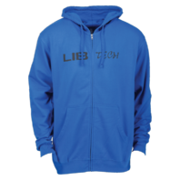 LIB TECH surf skateboard ski snowboard 18/19 Logo Zip Hoodie Royal Blue New Tag