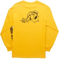 HUF mens Spike Downhill Long Sleeve Tee Gold Medium New w/Tag Skateboard Snoopy