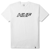 HUF mens Weld Reflective Short Sleeve Tee White Medium New w/Tag Skateboard