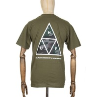 HUF mens Military Triple Triangle Short Sleeve Tee Medium New w/Tag Skateboard