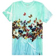 HUF mens Butterfly Effect TieDye SS Tee Blue Medium New w/Tag Skateboard