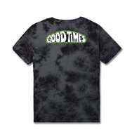 HUF mens Good Times Short Sleeve Tee Black Crystal Wash Med New w/Tag Skateboard
