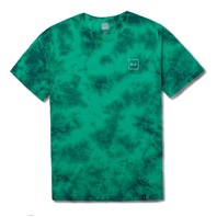 HUF mens Box Logo Short Sleeve Tee Jade Crystal Wash Med New w/Tag Skateboard