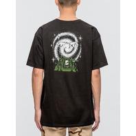 HUF mens Galaxy Short Sleeve Tee Black Medium New w/Tag Skateboard Snowboard