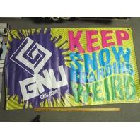 GNU snowboard Keep it Weird rare shop display banner Flawless New Stock