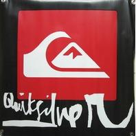 Quicksilver Snowboard Surf Skateboard Dealer Shop display banner New Old Stock