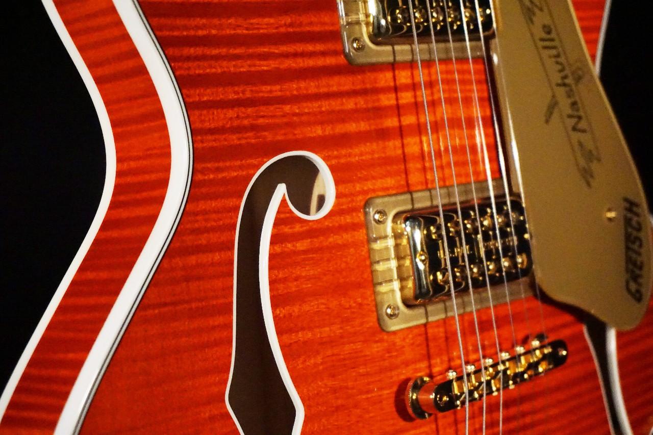 gretsch g6620tfm players edition center block orange flame guitar mint streetsoundsnyc. Black Bedroom Furniture Sets. Home Design Ideas