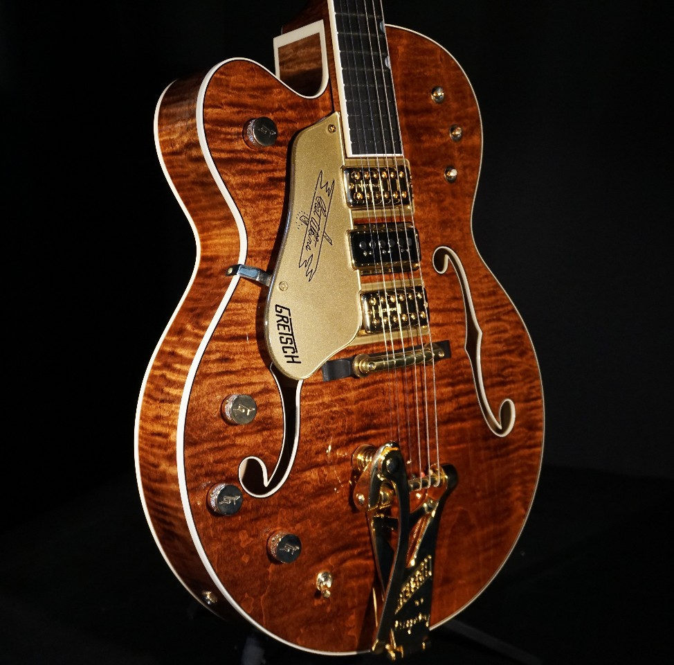 gretsch usa custom shop g6120cst lh lefty curly maple 3 pickup nashville guitar streetsoundsnyc. Black Bedroom Furniture Sets. Home Design Ideas
