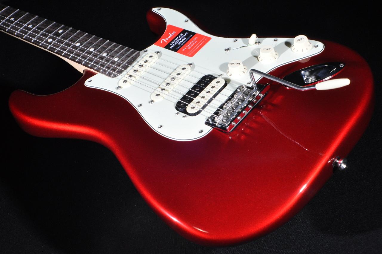 fender american pro stratocaster hss rosewood fretboard candy apple red guitar w hardshell. Black Bedroom Furniture Sets. Home Design Ideas