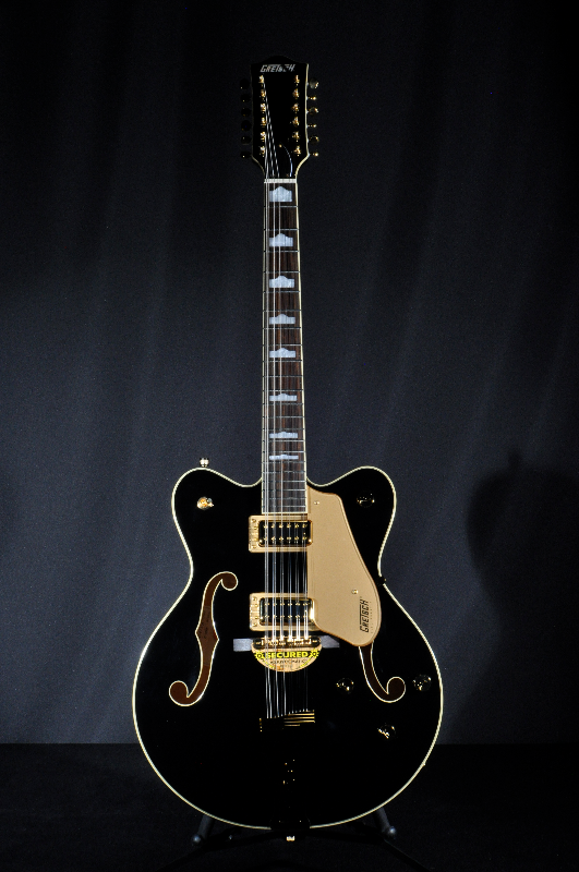 gretsch g5422g 12 black w gold hardware mint 12 string electric hollow body guitar 2018. Black Bedroom Furniture Sets. Home Design Ideas