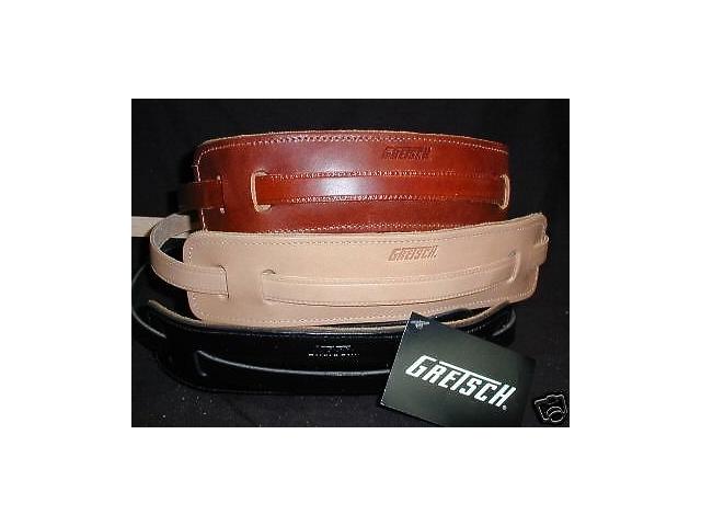 Gretsch Straps 3-Skinny Leather   Black/Natural/Walnut