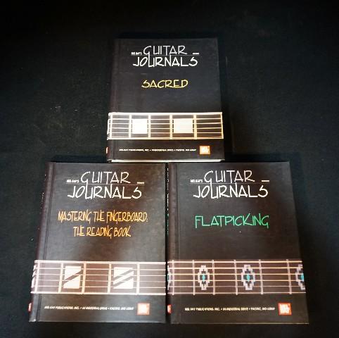Mel Bay's Guitar Journals 3 Pack Flatpicking Sacred and Mastering the Fingerboard