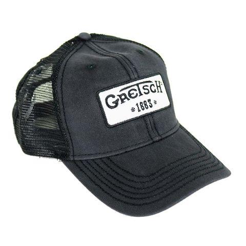 Gretsch 1883 Black Vintage Trucker Hat W/ Mesh Back