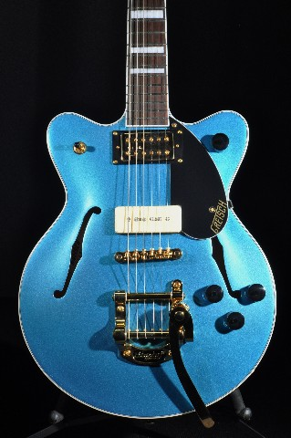 G2655TG-P90 LTD Streamliner Center Block Jr. Double Cutaway Riviera Blue Satin Guitar Gold Hardware