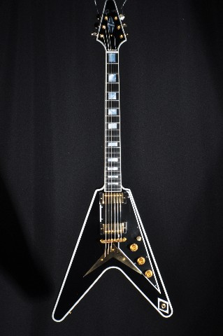 Tv Jones Pickups >> Gibson USA Custom Flying V Black Electric Guitar 2016 W ...