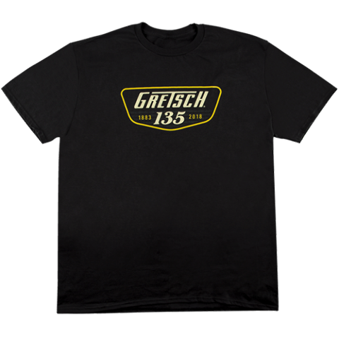 Gretsch 135th Anniversary Black Tee Shirt Medium