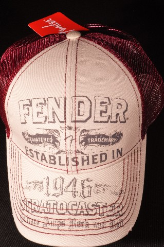 Fender Stratocaster Trucker Hat Beige/Wine  Authentic  910-6604-705