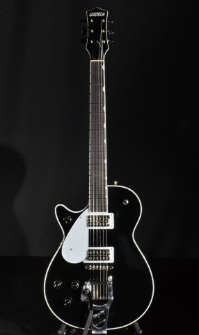Gretsch G6128TLH PE Lefty Players Edition Duo Jet Black Electric Guitar Mint