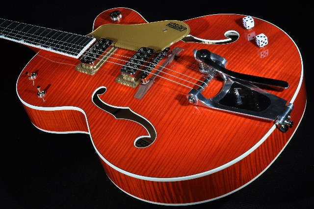 Gretsch G6120SSL NV  Lacquer Flamed Brian Setzer Nashville Guitar New Edition Mint Hardshell Included