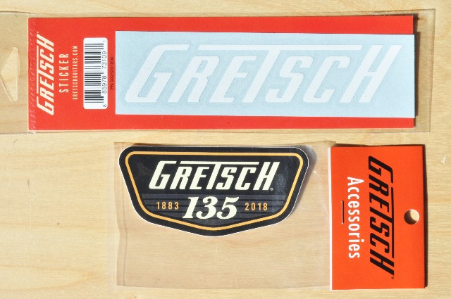 Gretsch 135Th Anniversary And Gretsch T-Logo Stickers (2-Stickers)