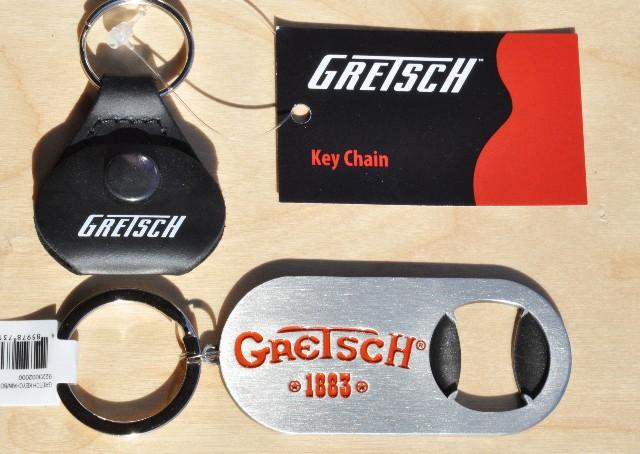 Gretsch Keychain Pick Holder And Keychain Bottle Opener