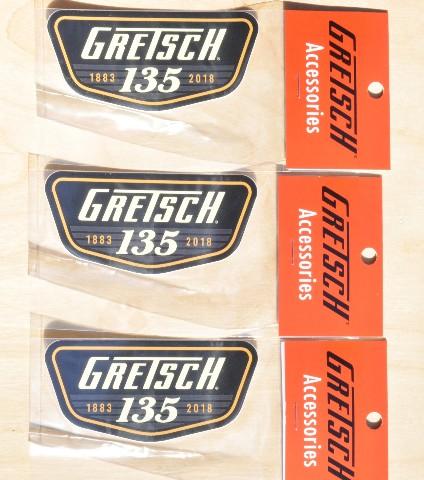 Gretsch 135Th Anniversary Sticker (Quantity 3) PN: 9227857135