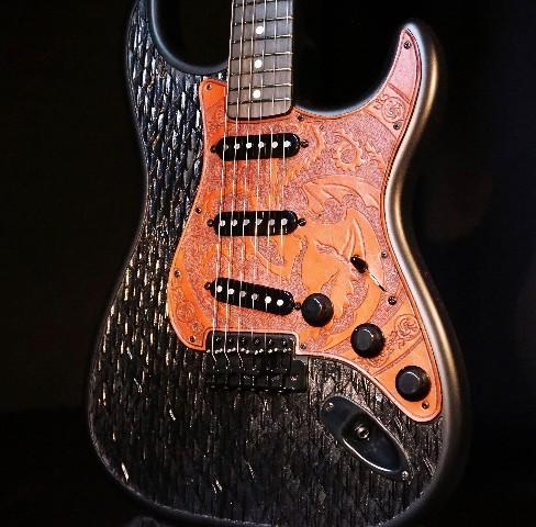 Fender Game Of Thrones House Targaryen Stratocaster Guitar In Stock