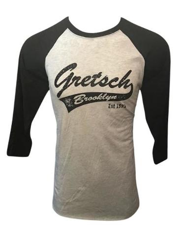 Gretsch Brooklyn 3/4 Sleeve Raglan Baseball Shirt XXX-Large Black/Heather White
