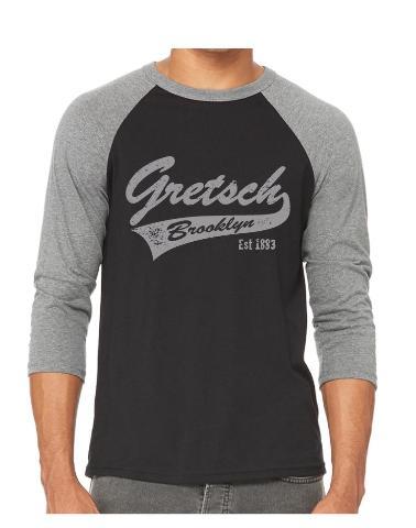 Gretsch Brooklyn 3/4 Sleeve Raglan Baseball Shirt X-Large Heather Grey/Black