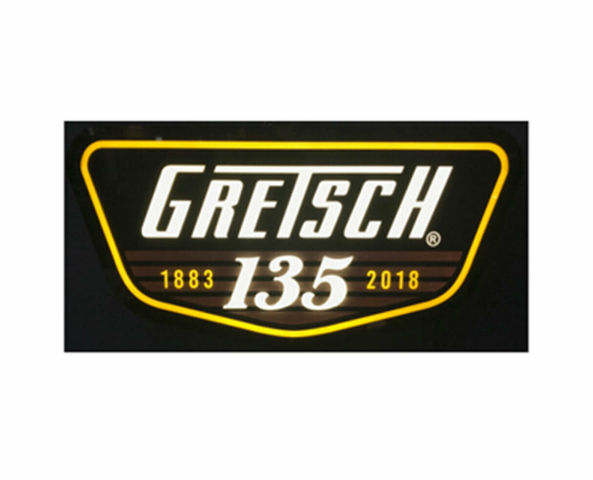 Gretsch 135Th Anniversary LED Lit Sign W/Power Supply 922-413-5100